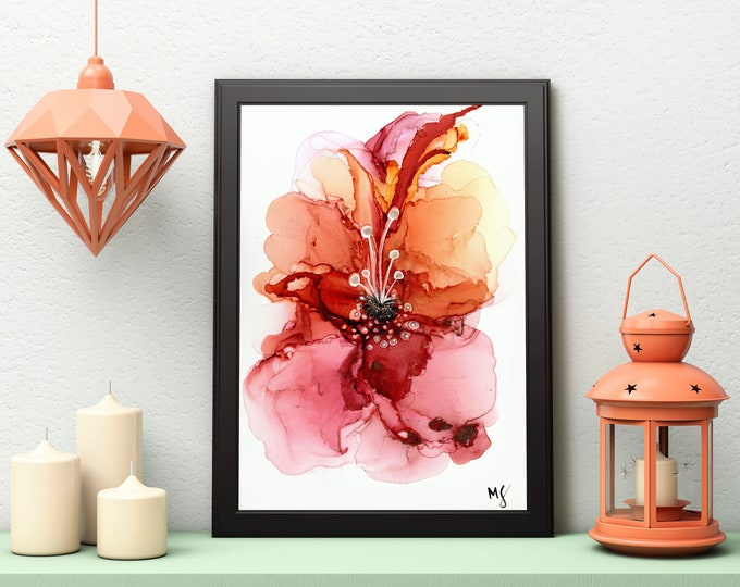 Floral Wall Art, Instant Download, Abstract Art Print, Printable Wall Art, Abstract Wall Art, Downloadable Wall Art, Modern wall Art,