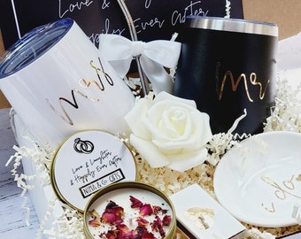 Couples Engagement Gift Box For Bride & Groom, Engaged Gift, Congrats Engaged, Happily Ever After, Congratulations, Mr and Mrs Gifts EGFC003
