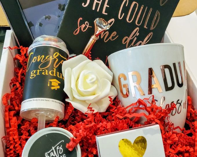 Graduation Gift Box for Her, Graduation Gift for Her, Congratulations Graduate, College Graduation Gift Box, Graduation Gifts - GGB03