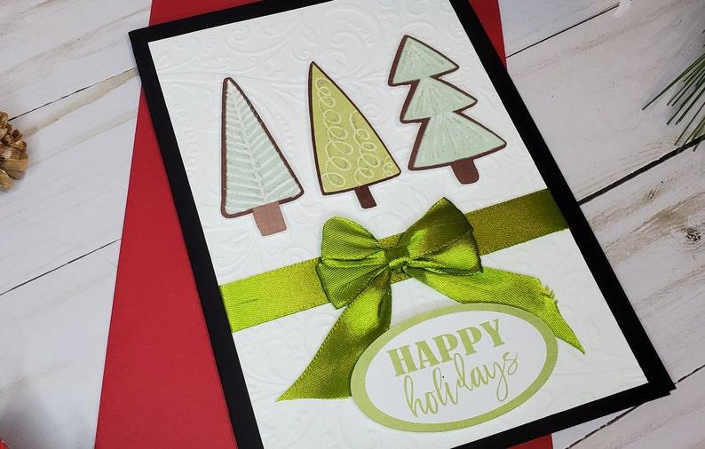 Handmade Christmas Card  Holiday Card Set image 0