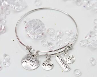 Charms Bracelet, Friendship Bracelet, Best Friend Gift, Bride Gift, Engagement Gift, Bridesmaid Bracelet, Pregnancy Gift, Bracelet - AOBR001