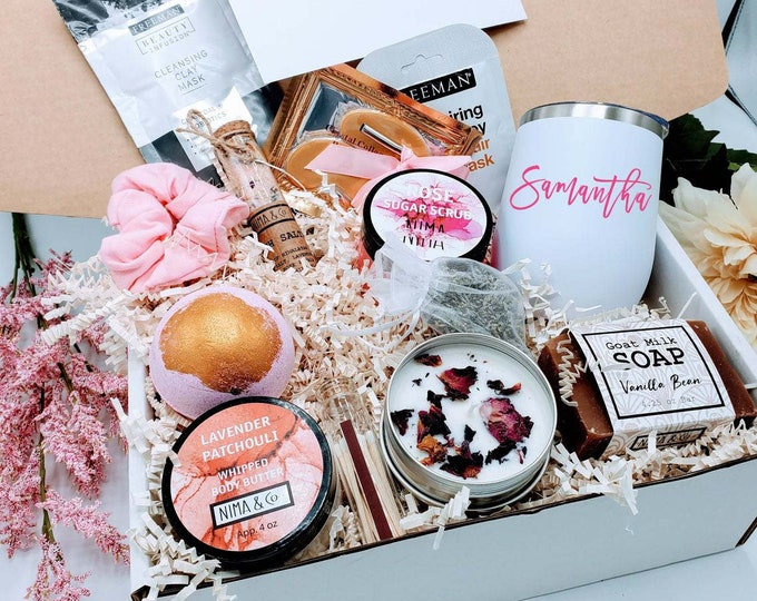 Best Friend Gifts Box, Birthday Gift Box for Women, Birthday Gifts For Her, Spa Birthday Basket For Friend, Birthday Gifts For Mom -BDB002