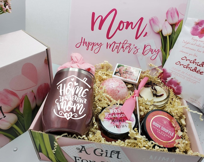 Mothers Day Gift Box, Gift Box for Women, Gift for Mom, Birthday Gift Box for Her, Spa Gift Set, Mom Gift, Best Friend Gift Basket - MDGB010