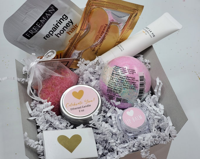 Mothers Day Gift Box, Mothers Day Gift Set for Mom, Spa Gift Set for Mom, Gift for Mom, NIMA Gifts Co, Gift Basket for Women - MDGB008