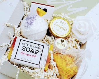 Boss Lady Gift Box, Gifts for Coworkers, New Job Gift, Promotion Gift Box, Promotion, Congratulations, Relaxation Bath Gift Set - PGB21008