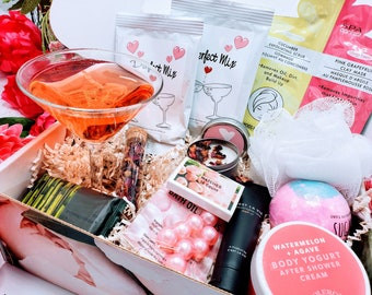 Spa Birthday Basket For Friend, Margarita and Spa Best Friend NIMA Gifts Box, Birthday Gift Box for Women, Birthday Gifts For Her - BDGB019
