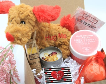 Valentine Day Gift Box for Her, Birthday Gift Box for Women, Birthday Gift Basket for Her, Spa Gift Box for Women - VDGB13