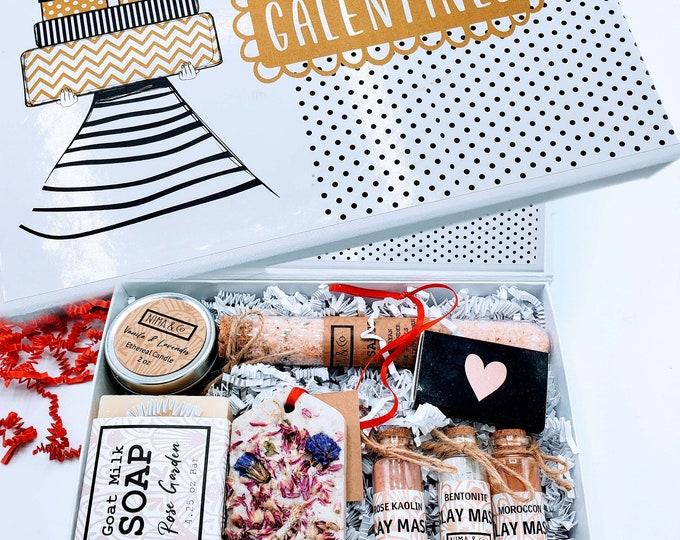 Galentine's Day Gift, Valentine's Day Gift Box for Women, Gift for Friend, Valentine Gift Box - VDB010