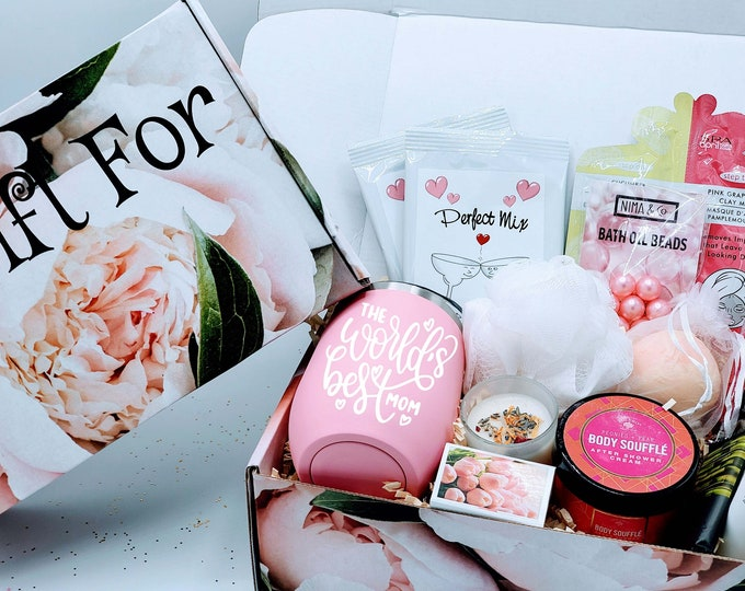 Margarita & Spa Mothers Day Gift Box, Mom Gift, Mothers Day Gift Basket, Spa Gift Set, Gift for Mom, Birthday Gift Box for Mom - MDGB003