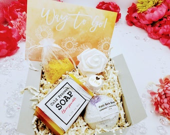 Congratulations Gift Box - You Did It! Way To Go on Your Promotion Gift Box, Coworker Gift, New Job Gift, Relaxation Bath Gift Set - PGB2109
