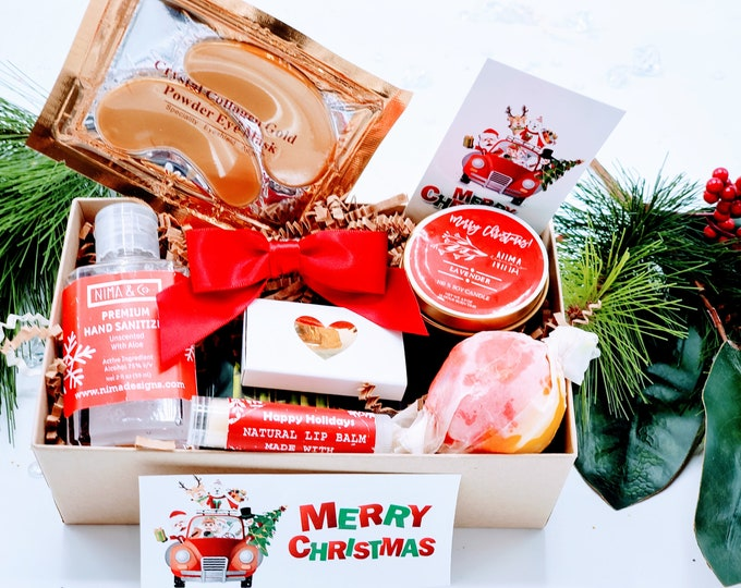 Christmas Gifts Box for Women, Holidays Gifts, Best Friends Gifts, Gift Box for Employees, Personalized Gifts for Her, NIMA Gifts - CSB5