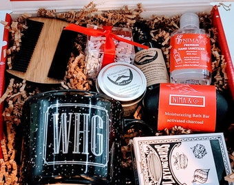 Christmas Gifts For Him, Men Gift Box, Gift for Men Box, Birthday Gifts for Men, Gift Basket for Man, Gift Basket for Him - CGBFM006