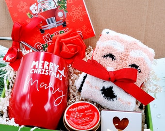 Christmas Gifts for Mom, Christmas Gift Box for Women, Stocking Stuffer, Christmas Gift Basket, Teacher Christmas Gifts - CSGB009A