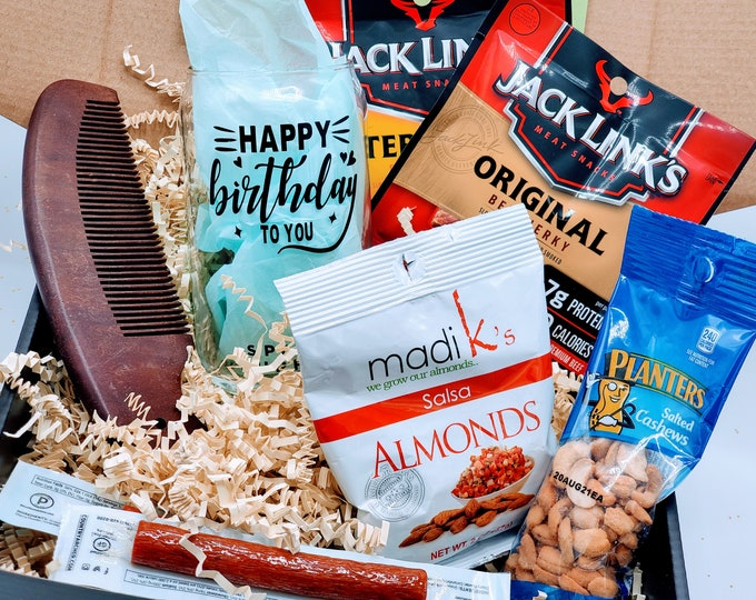 Gift for Boyfriend Birthday Gift Box for Men, Gifts for Men, Birthday Gift Basket for Dad, Fathers Day Gift Box, Gifts for Dad - VDGBM10