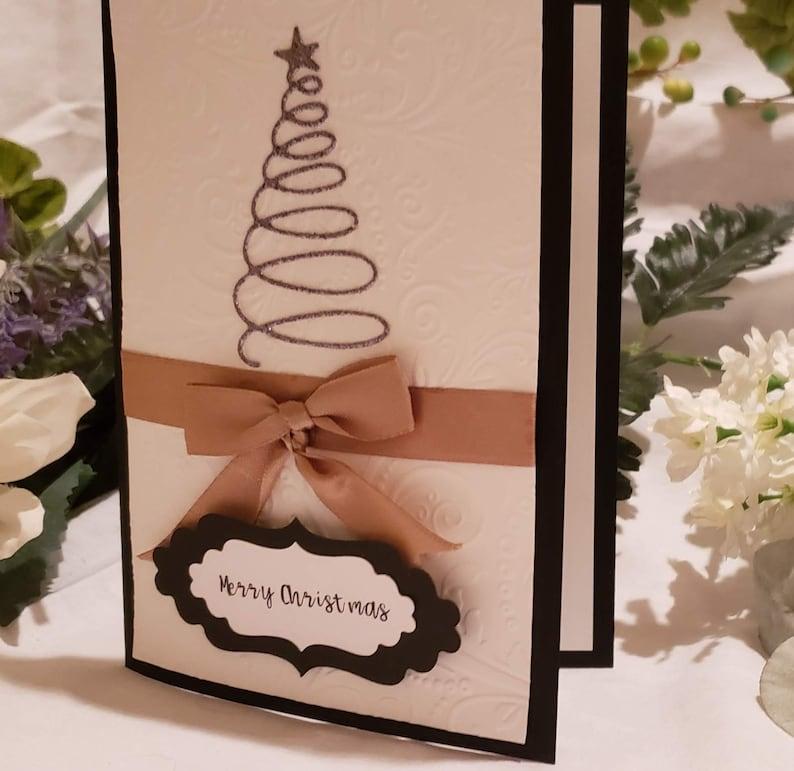 Handmade Christmas Tree Greeting Card Christmas Card Holiday image 0