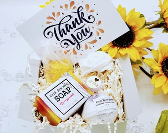 Christmas Thank You Gift Box | Appreciation Gift | Employee Gift | Spa Gift Box | Gift for Co Worker | Tutor Gift | Friend Gift - THGB004