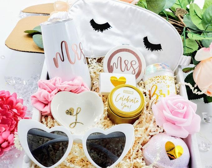Bridal Shower Gift, Bride Gift, Bride to Be Bridal Engagement Gift Basket Present, Bridal Gift Basket, Future Mrs Gift, Bride Box - BG001