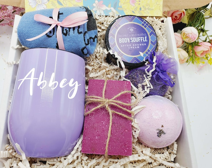 Baby Shower Gift, Mom To Be Gift, Pregnancy Gift Box, Expecting Mom Gift, Bath Gift Set for Her, Spa Gift Basket, NIMA Gifts Co -MTBGB03