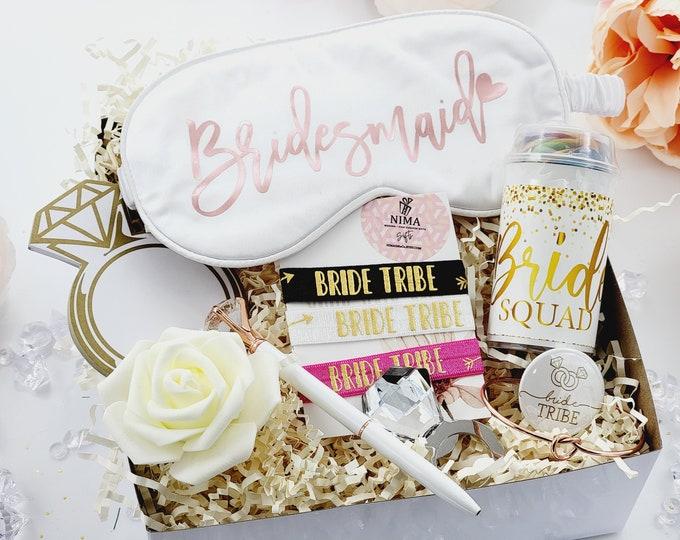 Bridesmaid Gifts, Bridesmaid Proposal Box, Will You Be My Bridesmaid, Bridesmaid Proposal Gift Box Set, Gold Bridesmaid Gift Set -BMPB007