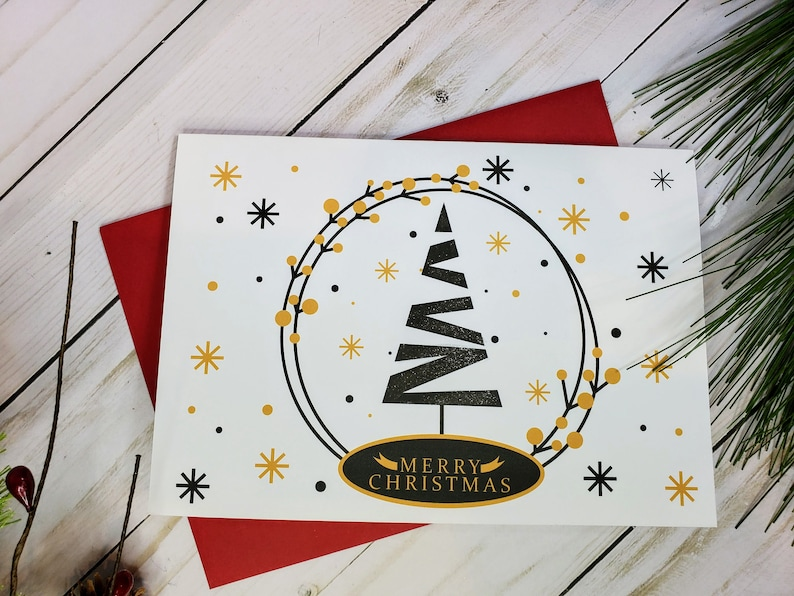 Christmas Cards Holiday Cards Set of 6 Boxed Christmas Card image 0