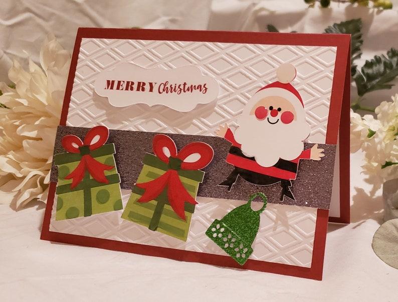 Christmas Cards Set of 6 Modern Christmas Cards Holiday image 0