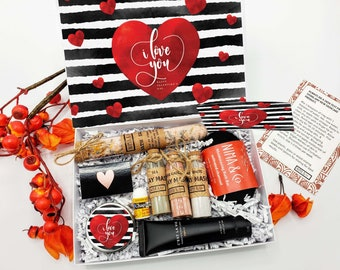 Valentines Day Gift for Her, Valentine Gift Box for Women Personalized Spa Gift Set - VDGB07