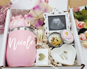 Pregnancy Gift Box, Baby Shower Gift, Expecting Mom Gift, Mom To Be Gift Set, Bath Gift Set for New Mom, Spa Gift Basket for Mom - MTGB02-01