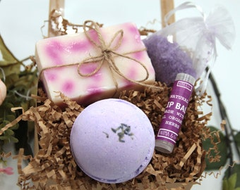 Spa Kits Gifts Box for Her, Relaxation Gift Box for Women, Thank You Gift Set, Thinking of You Gift, NIMA Gifts Co, Bath Gift Basket- SGB014