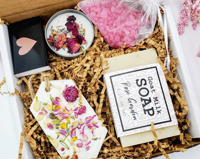Best Friend Gifts  Mini Self Care Package, Thank You Gift Box, Teacher Gifts, Spa Gift Set, Spa Gift Box - SBGB020