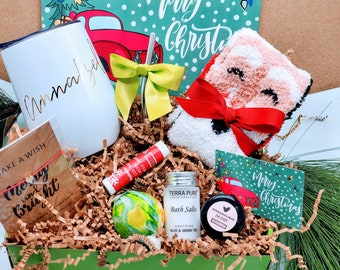 Christmas Gift Box for Women, Christmas Gifts for Mom, Spa Gift Box, Stocking Stuffer, Christmas Gift Basket, Teacher Christmas Gifts -CSB20