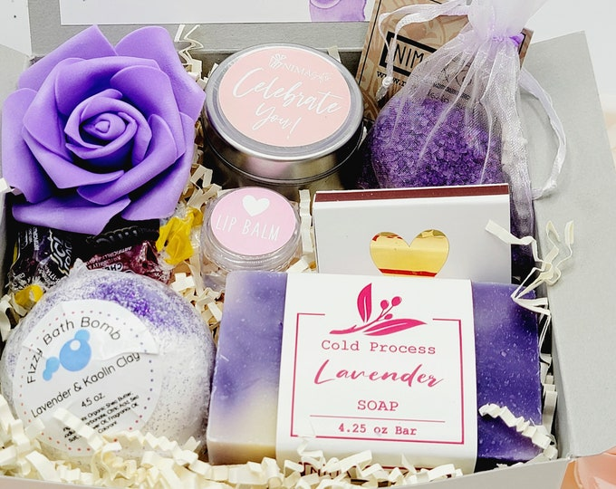 Spa Birthday Basket For Friend, Best Friend Gifts Box, Birthday Gift Box for Women, Birthday Gifts For Her, Spa Kits Gifts Box- SGB08
