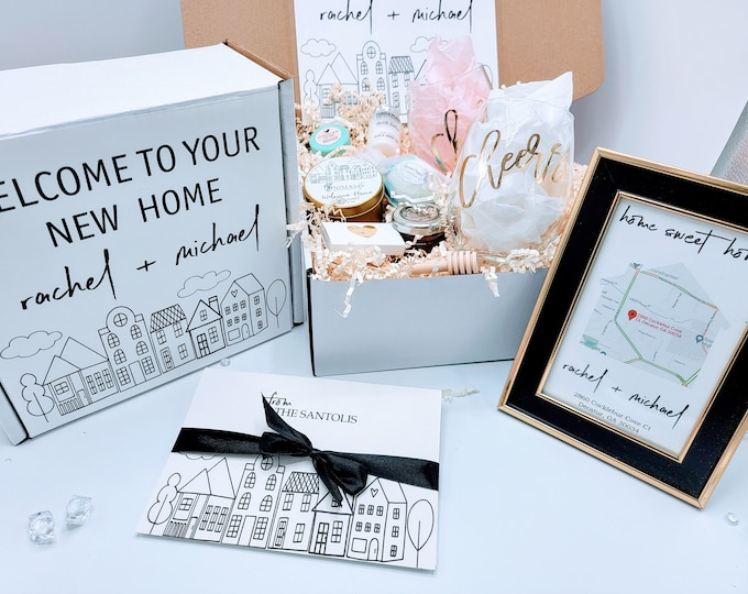 New Home Gift, Housewarming Gift, New Home, Home Sweet Home, Realtor Closing Gift, First Home Gift, House Warming Gift, Real Estate - HWGB02
