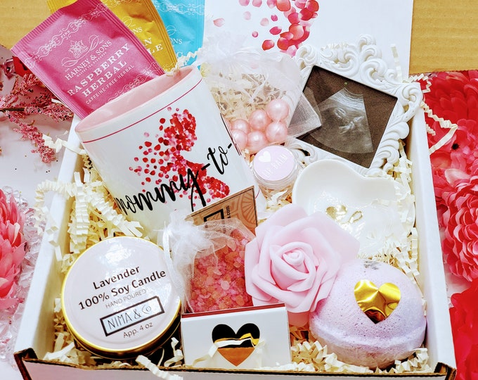 Pregnancy Gift Box Baby Shower Gift, Expecting Mom Gift, Pregnancy Care Package, New Mom Gift Basket, First Time Mom Gift Ideas - MTGB12