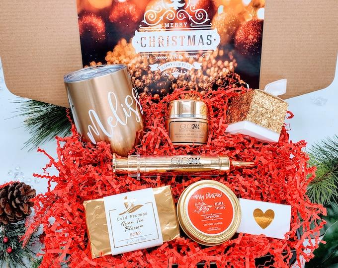Christmas Spa Gift Box, Holiday Spa Gift Basket, Christmas Gift for Her, Gift Box for Women, Christmas Gift for Mom, Spa Gift Set - CSB16