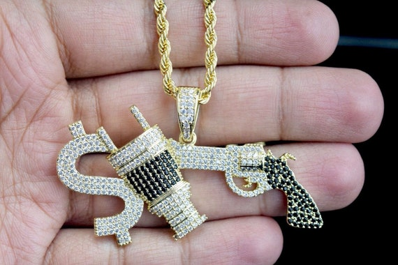 Men/'s Scarface Money Power Respect Dollar Custom Hip Hop Pendant Free Necklace