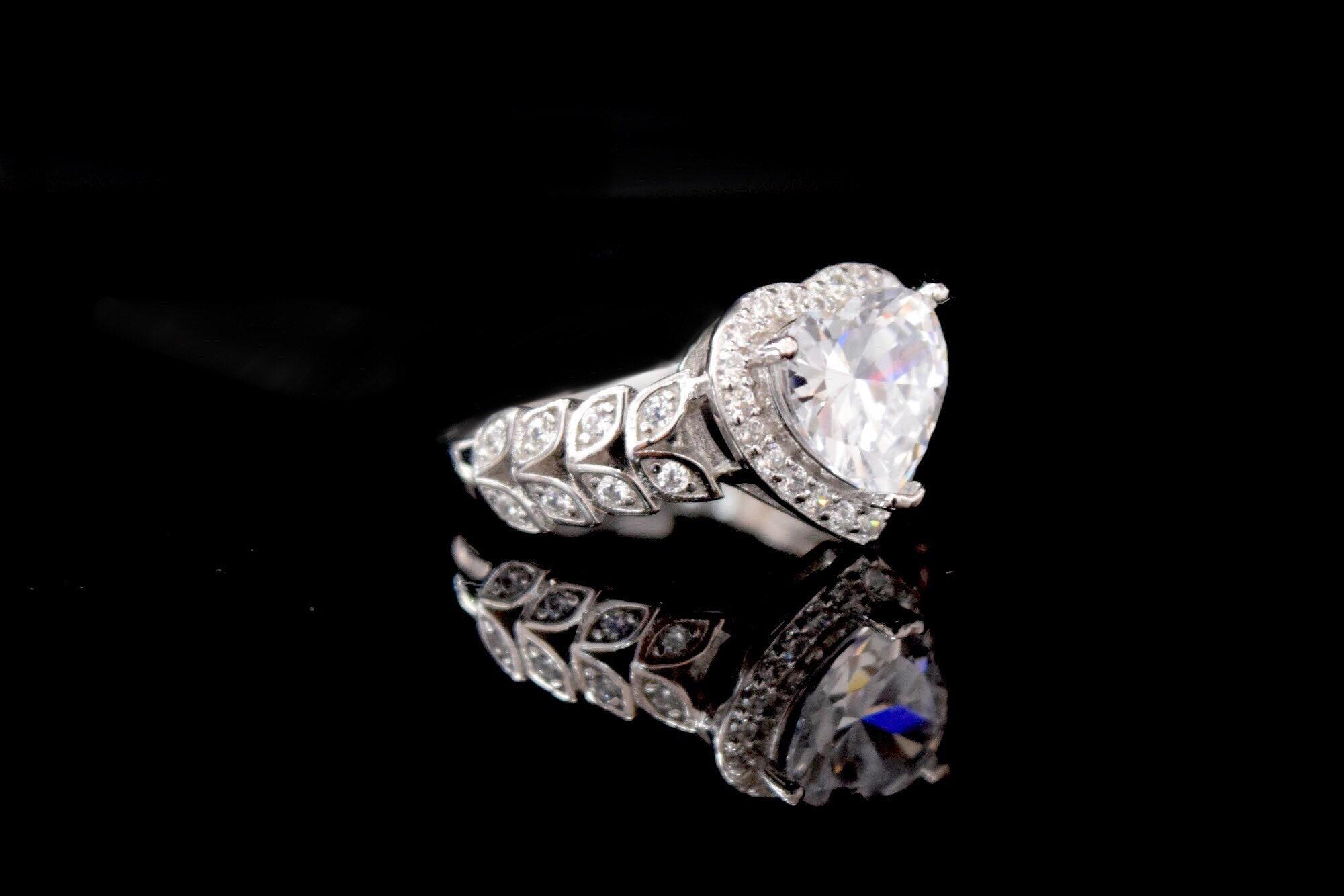 Men/'s 1.5CT White /& Black Cz Hiphop Fashion .925 Sterling Silver Ring sizes 8-12