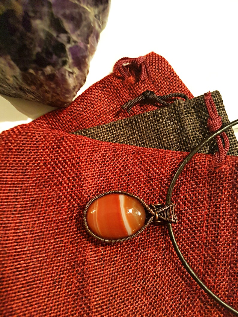 Carnelian Wire Wrap Necklace Carnelian  Pendant Handmade Gift Unique Wire Wrapped Copper Jewelry for Him and Her Gemstone