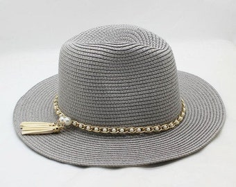 908e86d93e24b Summer Unisex Sun Hat    Casual Vacation Panama Straw Hat    Women Wide Brim  Beach Jazz Men Hats    Foldable Chapeau