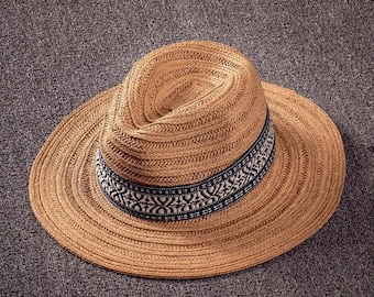 38883173990afa Straw Hat Men Foldable // Summer Straw Hat // Men and Women Visor Western  Cowboy Hat // Summer Hat
