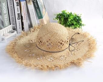 6b5b508a4e6c3 Straw hats women   Etsy