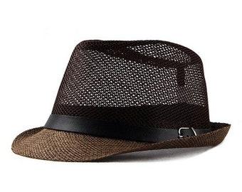 c5282538ca3 New Summer Jazz Cap // Beach Straw Caps // Fedora Hats for Men // Fedoras  Panama Hat