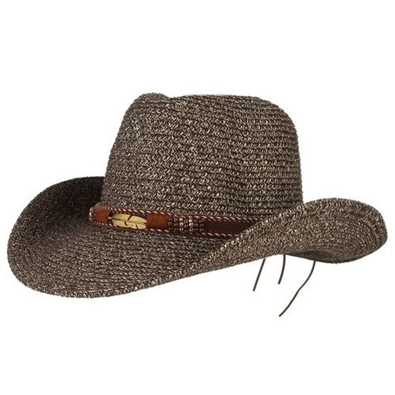 65a63dcec Classical Western Cowboy Hat For Men Women // Summer Straw Hats Alloy  Feather Beads Cowgirl // Jazz Cap Wide Brim // Sun Caps Sombrero
