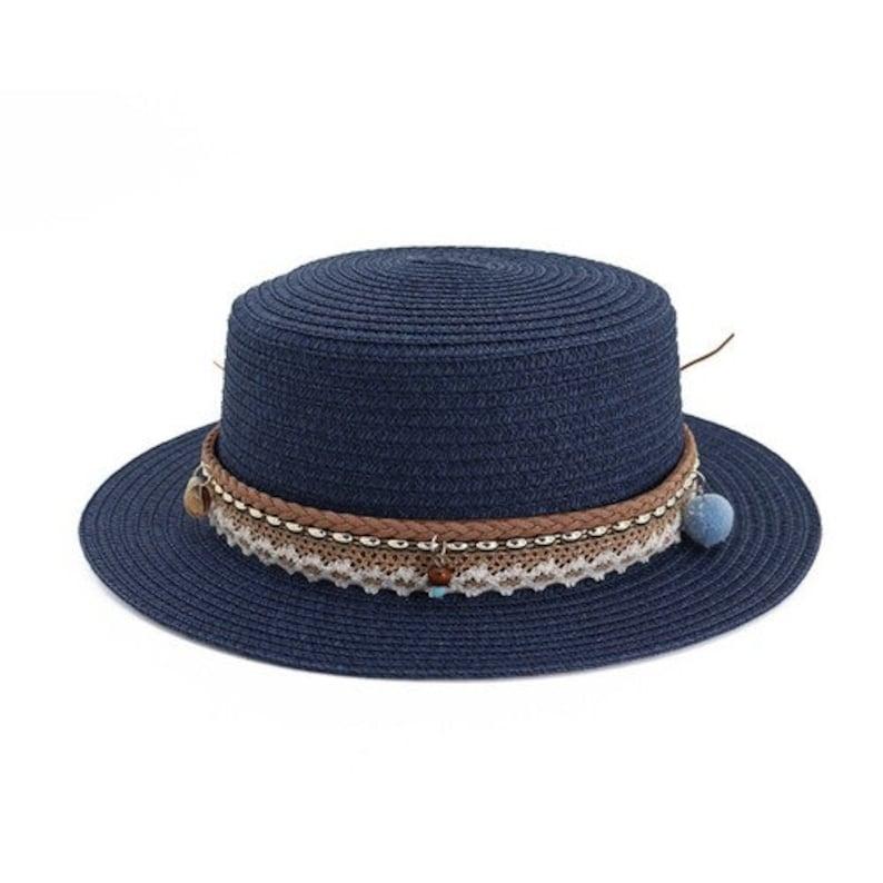 New Summer Adult Women/'s Straw Hat  Large Visor Breathable Sun Hats  Elegant Flower Decoration Beach Hat For Women