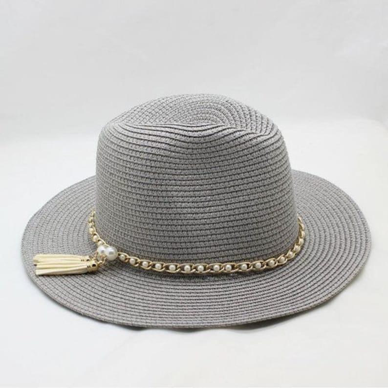 72c86948b Summer Unisex Sun Hat // Casual Vacation Panama Straw Hat // Women Wide  Brim Beach Jazz Men Hats // Foldable Chapeau