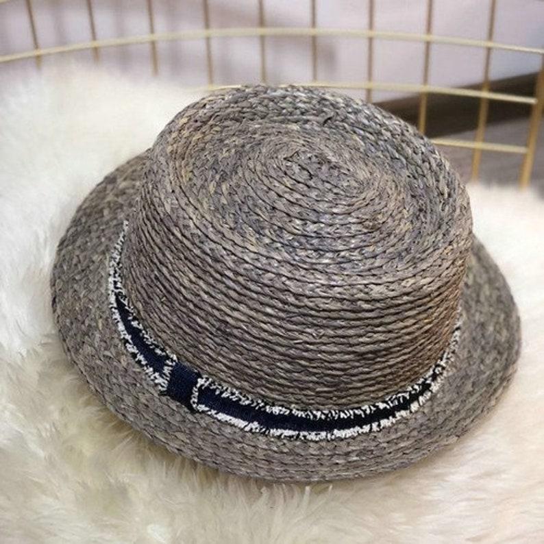 New Spring Summer Raffia Straw Fedoras  Fashion Bowler Felt pork Pie Hat for Men Women  Fedora Hat