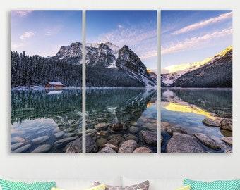 Lake Louise Map Wall Art Map Wall Prints Banff National Park Map Print Framed Art Canvas Art Prints Wall Art Art History Poster Art