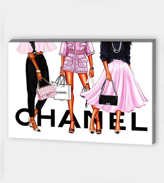 Fashion Wall Art Fashion Bag Prints Canvas Wall Art Fashion Bag Canvas Art Fashion Prints Fashion Illustration Canvas Painting Bag Wall Art