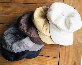 Cotton Newsboy Cap Hat Tweed Chemo hat   Adult Womens Mens c46c3a29dc55