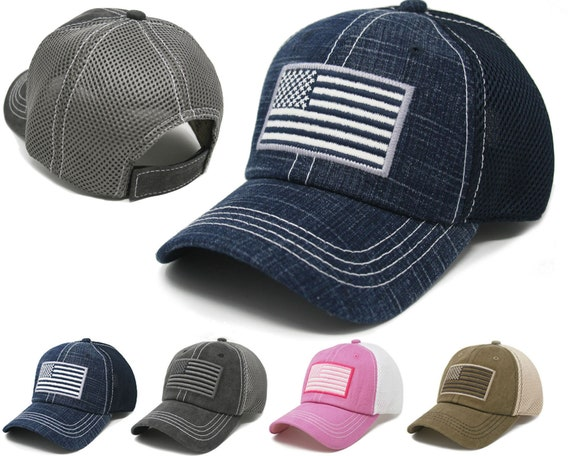 USA American Flag Hat Tactical Operator Air Mesh Embroidered  788b16d65d1
