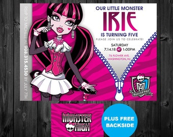 Monster High Invitation Etsy